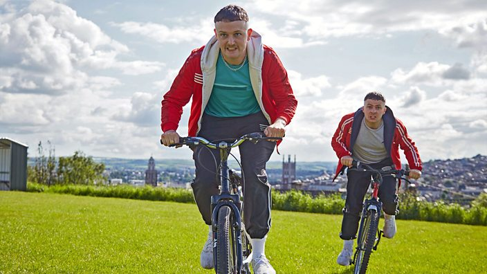The Young Offenders on their bikes