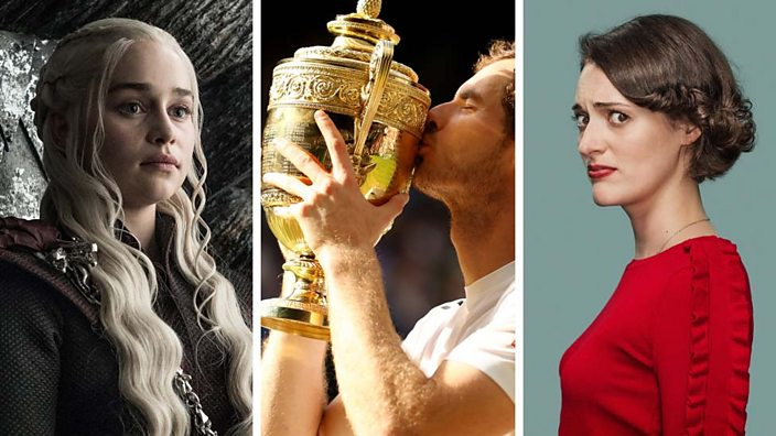 Daenerys Targaryen from Game of Thrones, Andy Murray wins Wimbledon and Phoebe Waller-Bridge in Fleabag