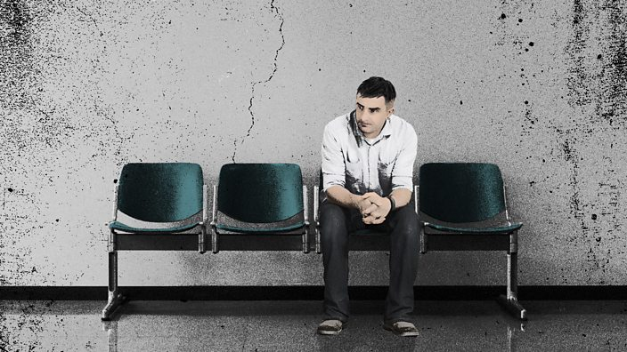 Man sitting in waiting room lo...