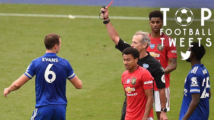 Jonny Evans sent off