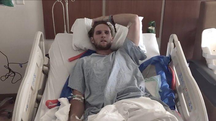 Paul Basagoitia in hospital