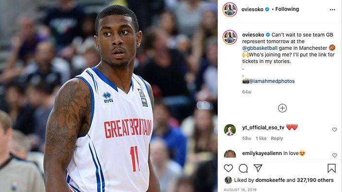 Post on Ovie Soko's Instagram: Ovie on Team GB duty