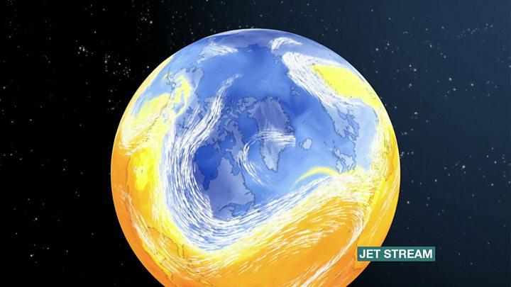 Climate change 'to make transatlantic flights longer'