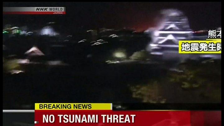 熊本県で震度7、相次ぐ余震 9人死亡860人以上負傷