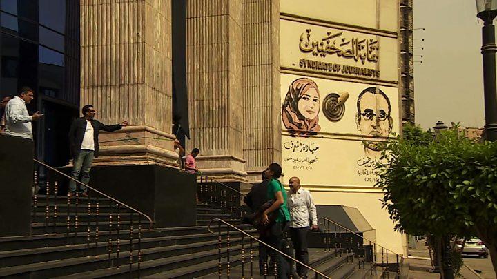 Journalists 'under siege' in Egypt