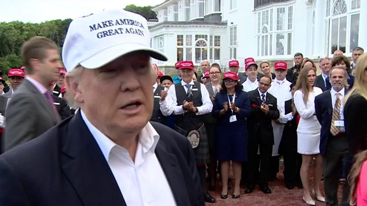 Donald Trump in Scotland: 'Brexit a great thing'