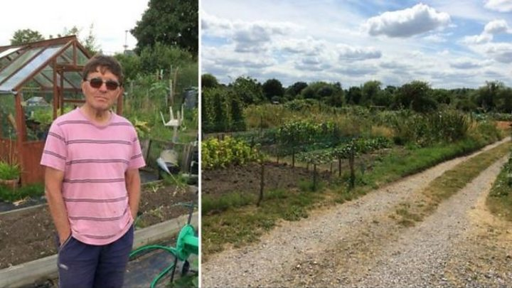 Images Council discusses car park plan for Twyford allotments - BBC News 2