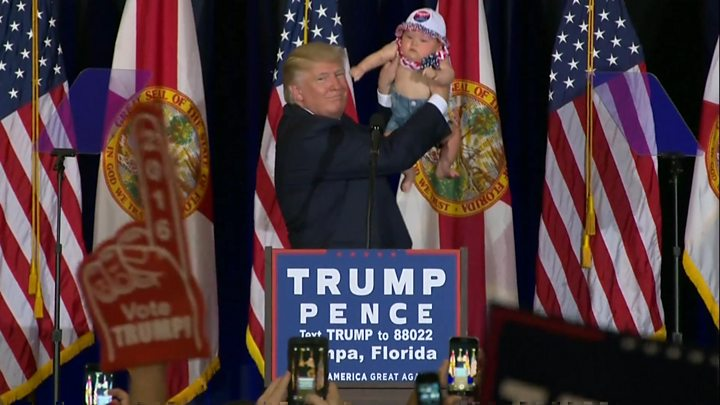 US Election Trump And Clinton Target Florida BBC News - Bbc election map us