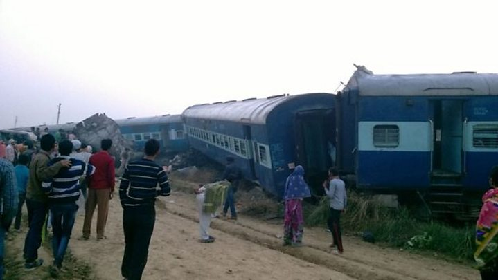 india train crash 115 killed in derailment near kanpur bbc news
