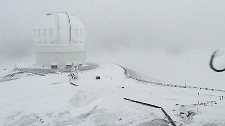 Hawaii snowfall: Parts of state receive weather warning