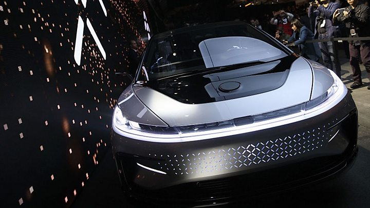 Wonderful CES 2017: Faraday Future Unveils Super Fast Electric Car   BBC News