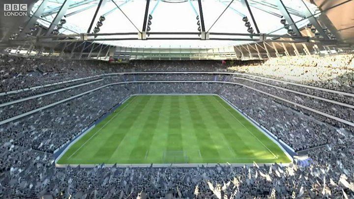 Tottenham Hotspur New Stadium Images Revealed Bbc News