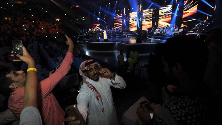 Rocking out, Saudi-style