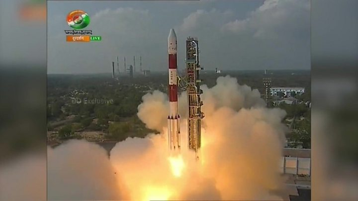 India launches record 104 satellites in single mission