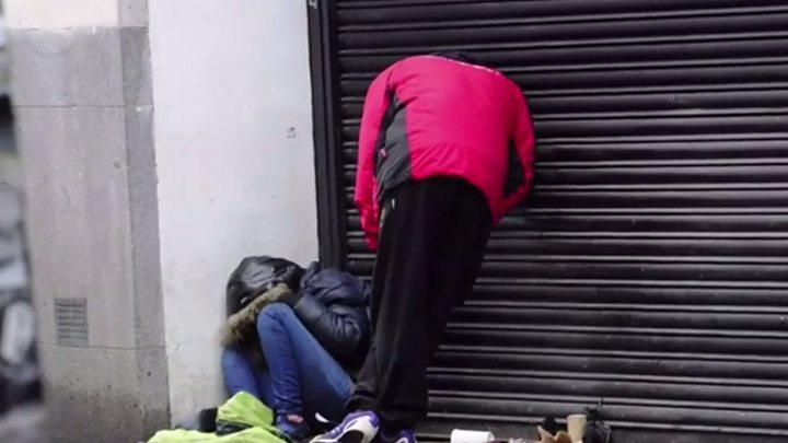 'Devastating' impact of 'Spice' shown in Bridgend street