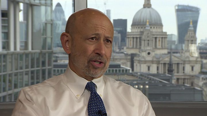 Goldman's Blankfein says London could stall due to Brexit