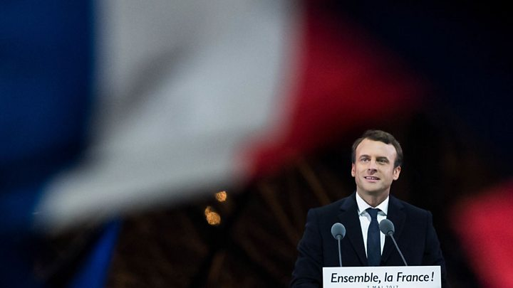 Euro reverses after hitting six-month high on Macron victory