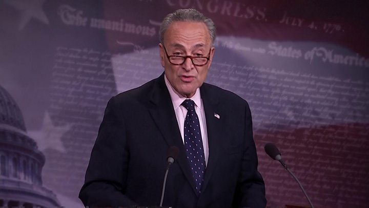 US Senate Democratic leader Chuck Schumer: 'Mr President, with all due respect, you're making a big mistake'
