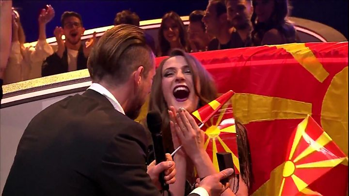 Macedonia's Eurovision entry gets engaged live on stage