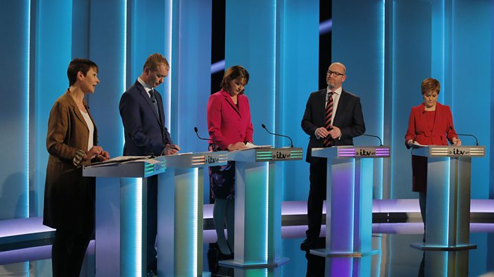 leaders debate theresa may and jeremy corbyn absent from five way