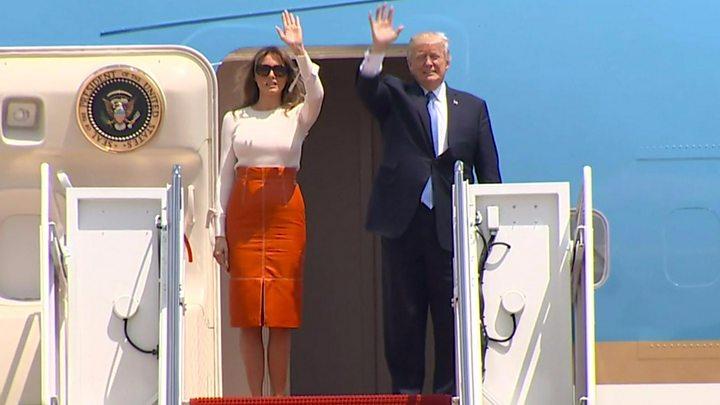 Trump arrives in Riyadh, meets with King Salman