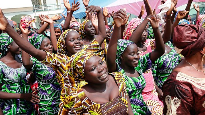 Image result for Chibok girls: 82 reunited with families in Nigeria