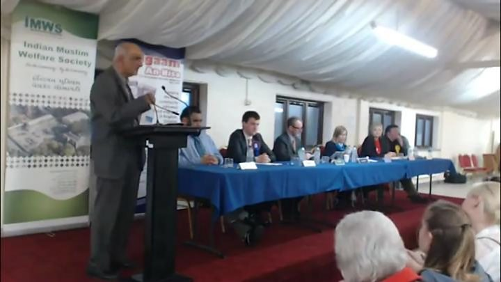 Tory candidate for Jo Cox seat apologises for gun joke at hustings