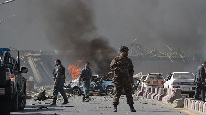 Kabul bomb: Dozens killed in Afghan capital's diplomatic zone