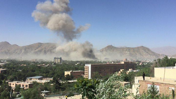 Image result for Kabul bomb: Diplomatic zone attack kills dozens