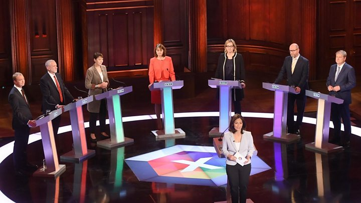 Image result for BBC debate: Rivals attack Theresa May over absence