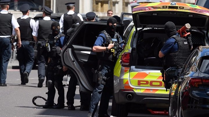 Trio detained by anti-terror police in east London following armed raids