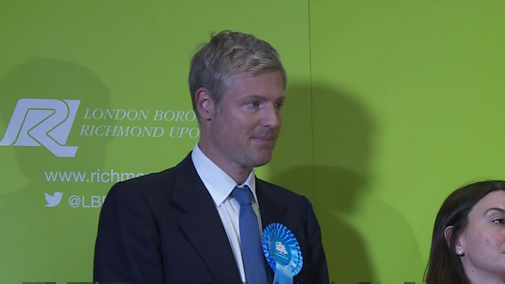 Election Results 2017: Zac Goldsmith retakes Richmond Park