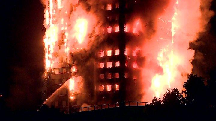 伦敦24层公寓楼大火 伤亡人数不断上升
