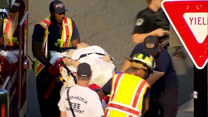 - p055xd9d - Gunman dead after attacking congressmen at Virginia baseball field