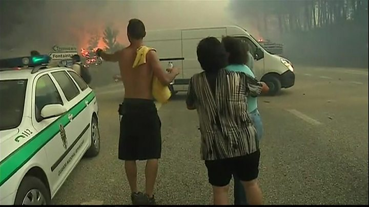Portugal forest fires: Three days of mourning for 61 victims