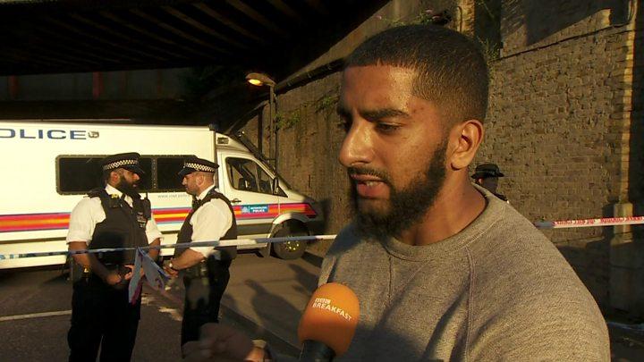 Man dies as van hits London mosque crowd