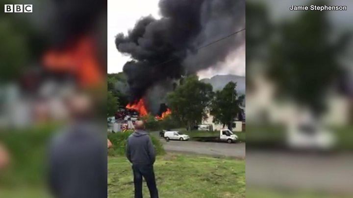 Sacriston Scrap Yard Blaze One Hundred Cars On Fire Bbc News