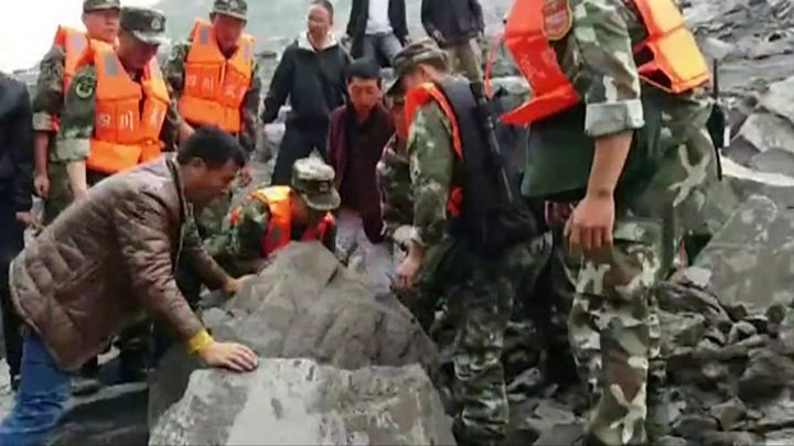 Second landslide hits stricken site in southwest China