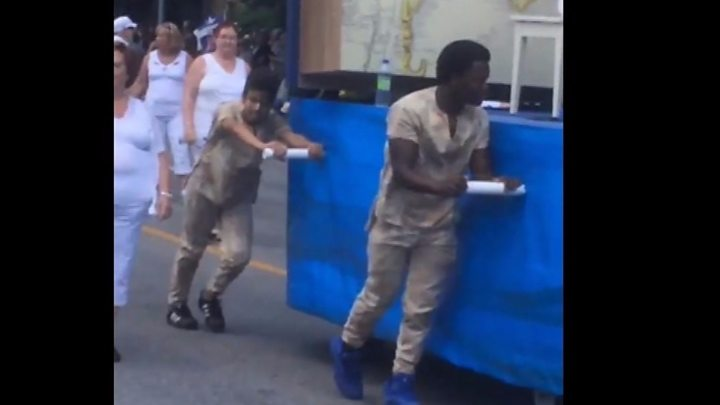 Montreal festival float causes race row