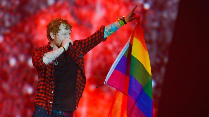 Resultado de imagen para ed sheeran gay flag