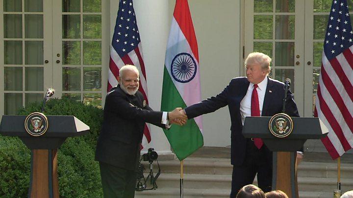 Image result for modi hugging trump