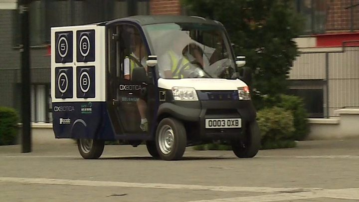 fbe485fd6ea9ac Ocado trials driverless delivery van in London - BBC News