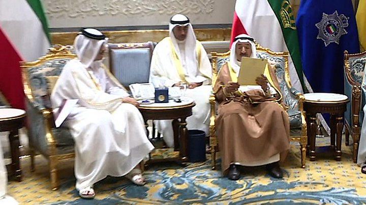 Image result for قطر تسلم الكويت ردها على مطالب الدول المقاطِعة الأربع