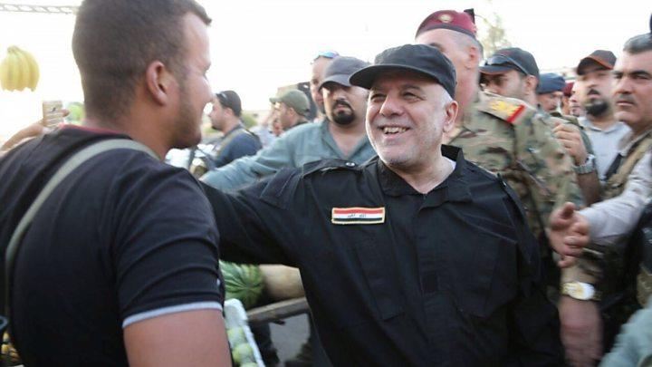 نتيجة بحث الصور عن احتفال العبادي بالنصر في العراق