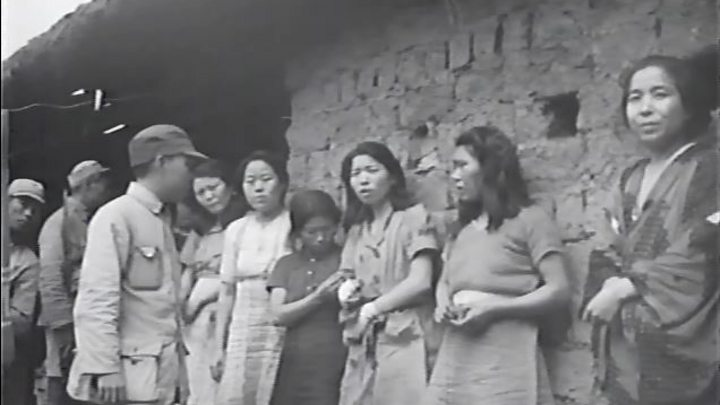 comfort women researchers claim first known film bbc news