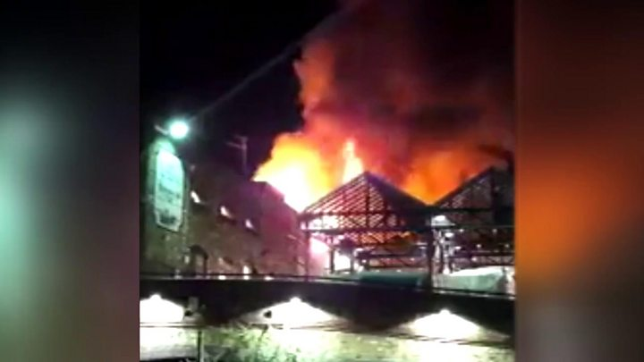 Camden Lock Market fire: Seventy firefighters tackle blaze