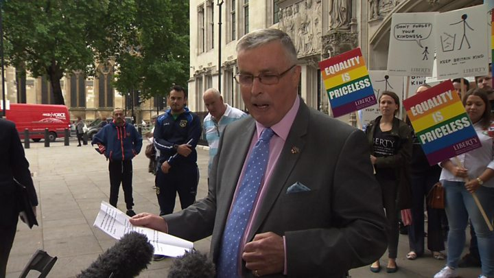 Gay former cavalry officer John Walker wins equal pension rights for husband