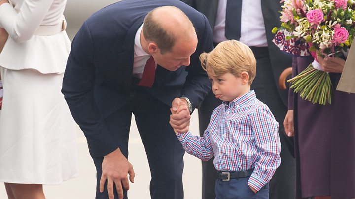 Watch William give George and Charlotte a helicopter tour