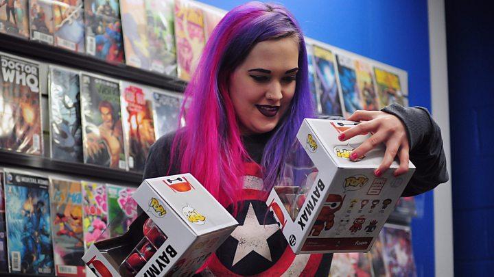 'Gosh, a woman with a comic shop'