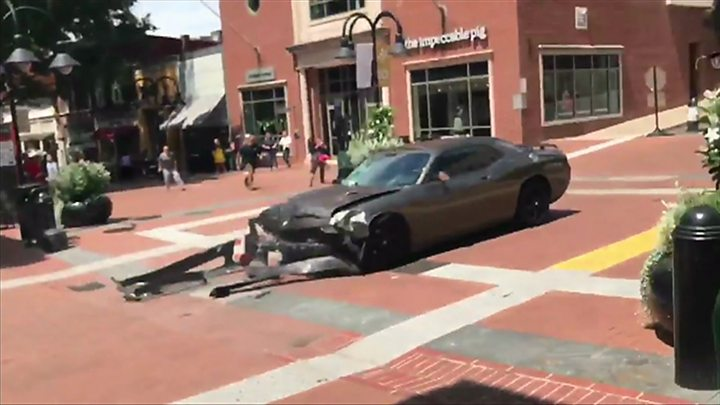 d791f4684d Footage captured the moment a car rammed into a crowd of counter-protesters  in Charlottesville